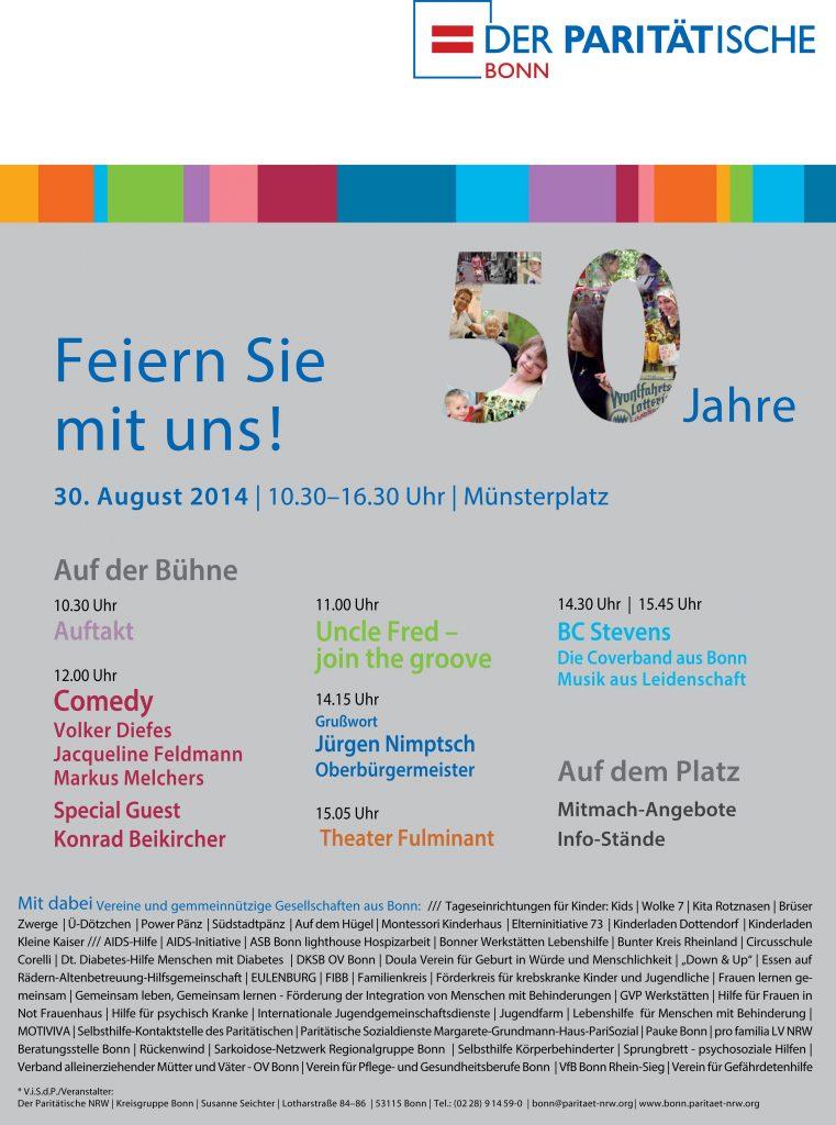 Veranstaltungsarchiv: 50. Jubiläum Paritätischer Bonn